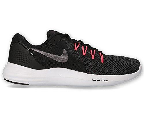Nike Women's Lunar Apparent Running Shoes (8 B(M) US, Black/Metallic Dark Grey-Solar Red) (Nike-softball-schuhe)