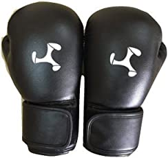 Le Buckle Tournament Gloves, 12oz (Black and Grey)