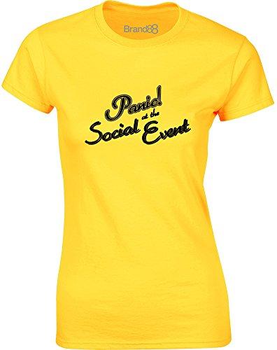 Brand88 - Panic! At the Social Event, Gedruckt Frauen T-Shirt Gänseblümchen-