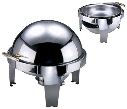 Contacto Edelstahl Chafing Dish mit Roll Top Deckel und einem Brennbehälter
