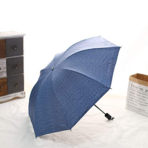 JiMany Regenschirm Regenschirm, Hochwertiger, Großer Klappbarer, Winddichter, Nicht-Automatischer, Kommerzieller Unisex-Regenschirm,Blue