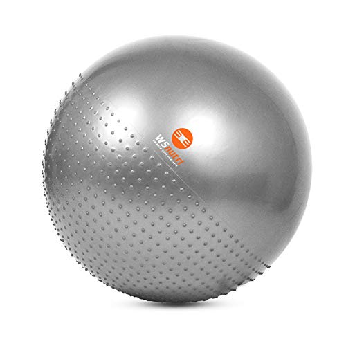 WSnutri Gymnastikball I 2in1 Yogaball mit Massagefunktion I Inklusive Pumpe I 65cm I Physiotherapie, Schwangerschaft, Büro, Pilates, Fitness - Set Massage-stuhl