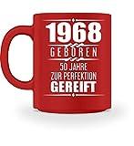 Shirtee Lustige Geschenkidee 50. Geburtstag 50. Jubiläum Geschenk 1968 Geboren Geburtstagsgeschenk zum 50. - Tasse