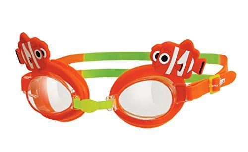 Zoggs Kinder Nemo Kids Character Goggle Schwimmbrille, Orange/Grün, 1-6 Jahre