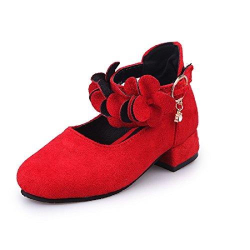 YIBLBOX Blume Prinzessin Gelee Partei Absatz-Schuhe Sandalette Stöckelschuhe für Kinder