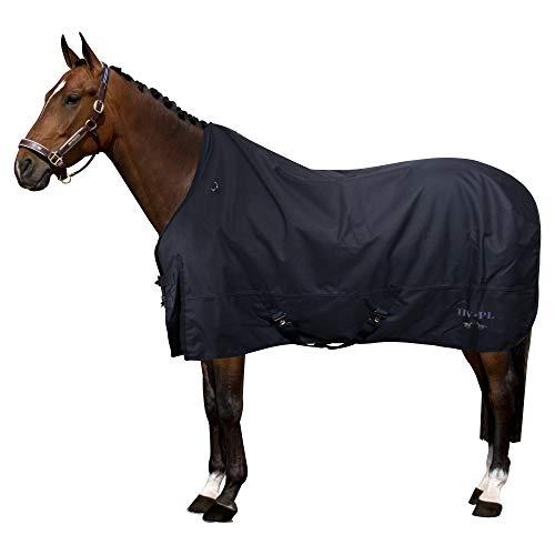 HV Polo Outdoor-Decke Paddockdecke Regendecke 100 Gramm | 600 DEN wasserdicht atmungsaktiv | Komfort-Widerristschnitt | modifizierter Gehschlitz | doppelter T-Riegel-Frontverschluss (125, Navy)