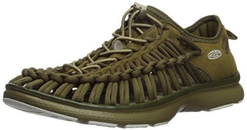KEEN Women's Uneek o2-w Sandal, Dark Olive/Fir Green, 5 M US