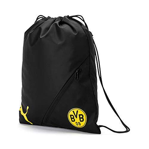 Puma BVB Liga Gym Sack Turnbeutel, Black-Cyber Yellow, UA