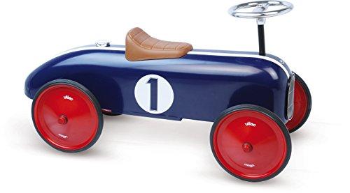 Vilac - 1104 - Porteur - Voiture De Course Métal - Bleu