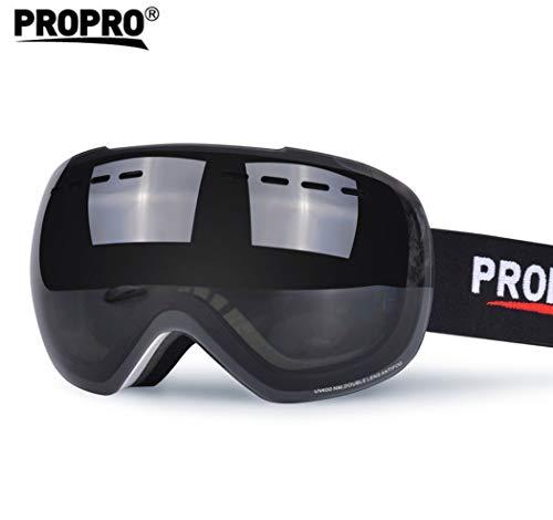 Espejo Antideslizante Antideslizante a Prueba de Viento Antideslizante a Prueba de Viento del patín de Las Gafas de esquí Adecuado para Hombres y Mujeres Adultos,A