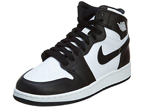 outlet store cd5b4 c383d Nike Jungen Air Jordan 1 Retro High OG BG Basketballschuhe Schwarz   Weiß ( Schwarz