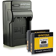 Bundle - 4in1 Caricabatteria + 2x Batteria NP-BD1 / NP-FD1 per Sony Cybershot DSC-G3 | DSC-T2 | DSC-T70 | DSC-T75 | DSC-T77 | DSC-T90 | DSC-T200 | DSC-T300 | DSC-T500 | DSC-T700 | DSC-T900 | DSC-TX1