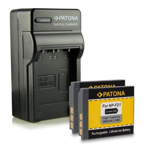 T900 Caricabatteria+Batteria NP-BD1 FD1 per Sony Cyber-Shot DSC-T700 TX1