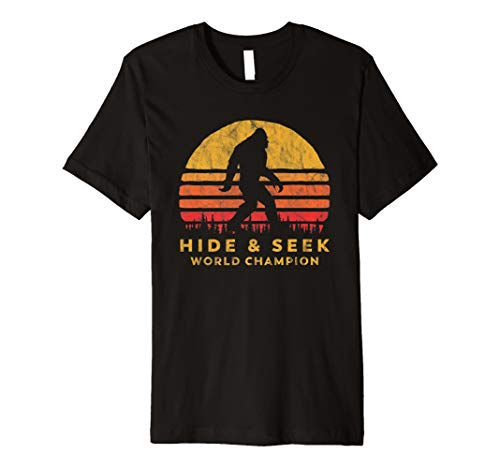 Retro Hide & Seek World Champ Bigfoot Sun Tee - Believe! (T-shirt Champ Peoples)