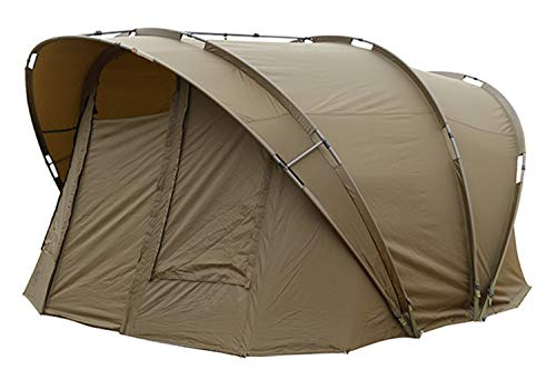 FOX R-Series 2 Man XL Khaki 315x330x185cm Karpfenzelt für 2 Angler, Angelzelt zum Karpfenangeln & Wallerangeln, Zelt, Campingzelt
