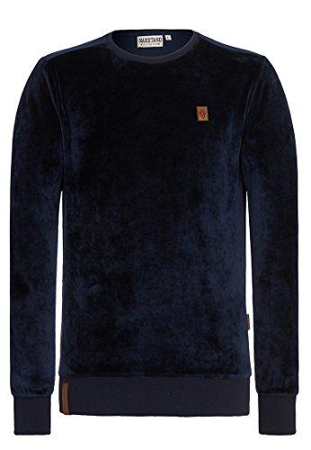 Naketano Male Sweatshirt Asgardian Mack III Dark Blue, S (Velour Bekleidung)