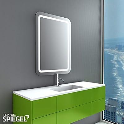 LED Badspiegel beleuchtet Perfekt Badezimmerspiegel mit Beleuchtung 80 x 60 cm von Temprix - Spiegel Online Shop
