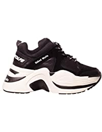 NAKED WOLFE Scarpe Donna Basse con Platform Track Black off White Combo 5ee9a8c20bc