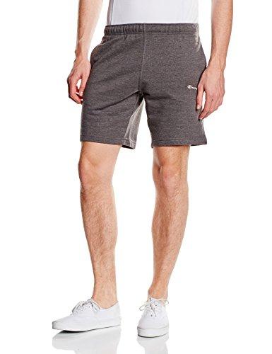 Champion-Pantalone corto da uomo, Uomo, Bermuda, Charcoal Marl Melange, XL