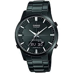 Casio Wave Ceptor Reloj Analógico/Digital de Cuarzo para Hombre con Correa de Correa De Acero Macizo – LCW-M170DB-1AER