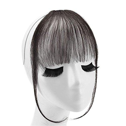 remeehi unsichtbar vorne Pony Clip In Echthaar Extensions One Stück Süß Fransen Haarteil Rahmen Das Gesicht Zubehör Ordentlich Pony mit Tempel