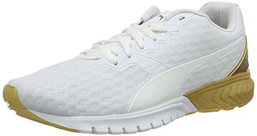 Puma Ignite Dual Gold Wn's, Scarpa da Running Woman (Race), Bianco/Oro, 4.5 EU