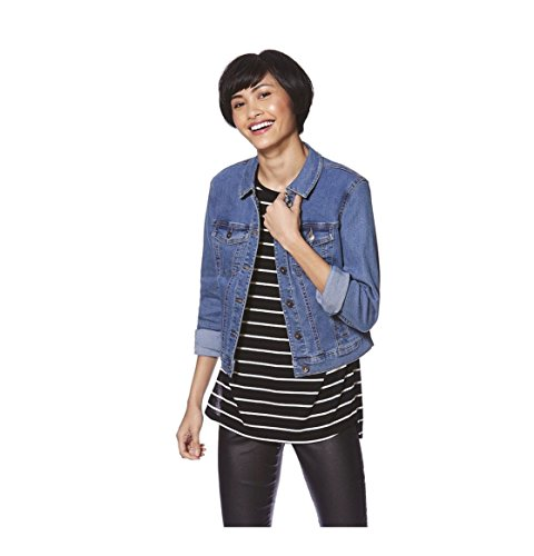 Ladies New Quality Summer Stylish Modern Long Sleeve Denim Jacket