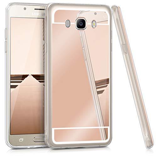 kwmobile Samsung Galaxy J7 (2016) Hülle - Handyhülle für Samsung Galaxy J7 (2016) - Handy Case in Rosegold spiegelnd