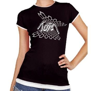Korn - Honeycomb Da donna T-Shirt In Nero, Size: X-Large, Color: Nero