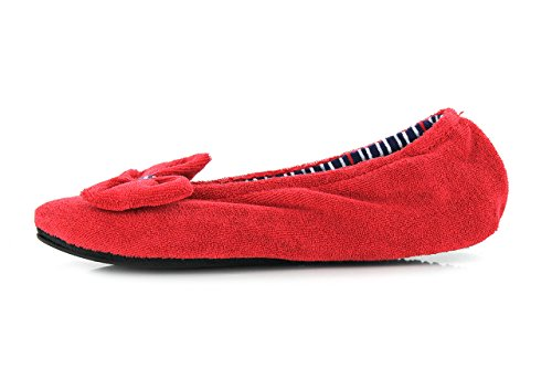 Isotoner Chaussons ballerines femme Femme Rouge