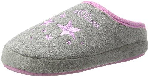s.Oliver Unisex-Kinder 47100 Pantoffeln, Grau (Grey/Stars), 38 EU