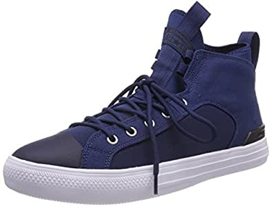 Unisex-Erwachsene CTAS Ultra Mid Black/Gym Red/White Hohe Sneaker, Schwarz (Black/Gym Red/White), 43 EU Converse