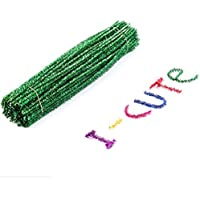 STOBOK 100 Stücke Weihnachten DIY Chenilledraht Pfeifenputzer Glitzer Pfeifenreiniger für Weihnachtsbaum Deko Kinder Basteln Kunst Handwerk 30 cm (grün)