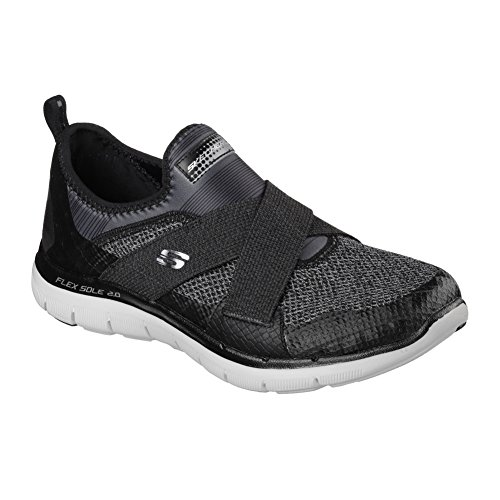 Skechers Flex Appeal 2.0 New Image, Baskets Basses Femme Bkgy