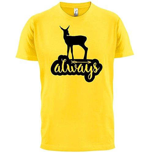 Always Deer - Herren T-Shirt - 13 Farben Gelb