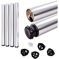 Juego de patas extensibles de mesa | Sossai Estándar STBAL | Diseño: Aluminio | Altura regulable 710 mm + 20 mm | Set de 4 unidades