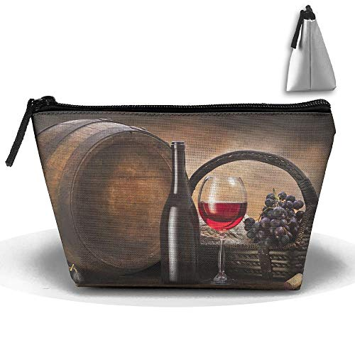 Portable Travel Storage Bags Grapes Basket Red Wine All Printed Clutch Wallets Big Pouch Purse Zipper Holder For Kits Medicine And Makeup Bag cosmetic travel bag -