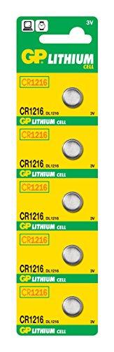 GP CR1216-7U5 Lithium Batterie 2L76 (3V)