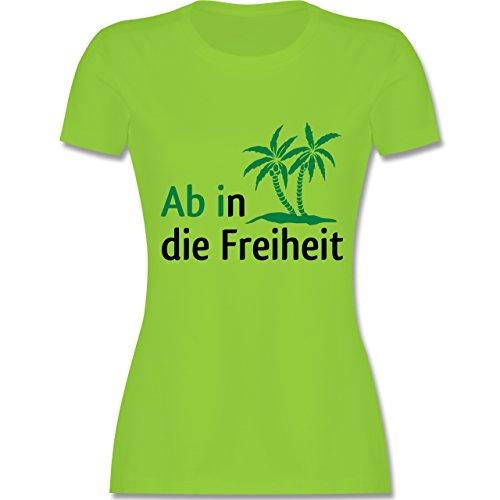 Abi & Abschluss - Ab in die Freiheit - tailliertes Premium T-Shirt mit Rundhalsausschnitt für Damen Hellgrün