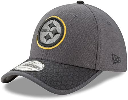 Pittsburgh Steelers New New New Era NFL 39THIRTY 2017 Sideline Graphite Flex Fit Hat Cappello | Facile Da Pulire Surface  | Cheapest  | Diversi stili e stili  | eccellente  dab8be