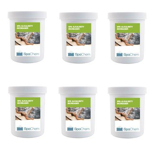 6x 1kg Spa Alkalinität Erhöhung von spachem-Pure TA Plus Spa Chemikalien Für Hot Tub Spa Schwimmbad Wasser Behandlung (Bulk)