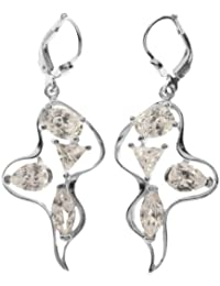 InCollections Damen-Ohrhänger 925/000 Sterlingsilber mit Zirkonia 0010261669340