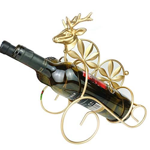 Weinregal, Vintage-Stil, einfach modisch, platzsparend, freistehend, 1 Flasche, schwingend,...
