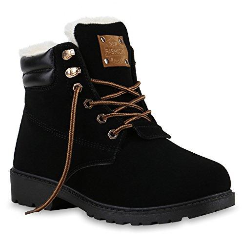 UNISEX Damen Herren Boots Bequeme Worker Boots Profilsohle Outdoor Schwarz Braun