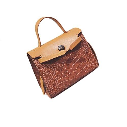 KYFW Womens Crocodile Pattern Platinum Paket Fashion Handtasche Schulter Oblique Bag Tide C