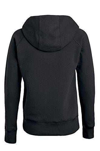 Damen Hoodie, Kapuzenpullover uas 85% Biobaumwolle und 15% Polyester, Damen Bio Pullover, Damen Bio Hoodie, Damen Sweater Baumwolle (Bio), Schwarz