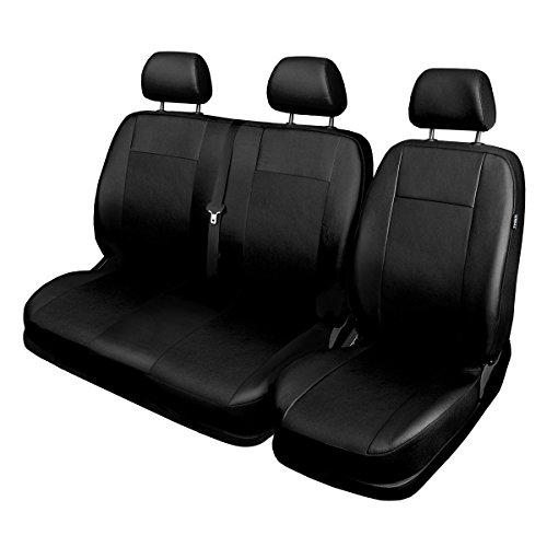 Sitzbezug Sitzbezüge 2+1 Kunstleder Schwarz Schonbezüge für Ford Renault Toyota