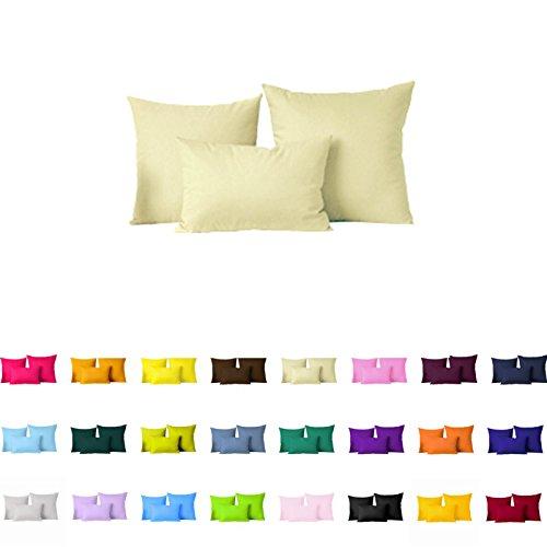 Paar (2pc) Farbe Kissen Bezug/Kissen Fall, Polyester-Mischgewebe, khaki, 45,7 x 45,7 cm (Cover Futon Khaki)