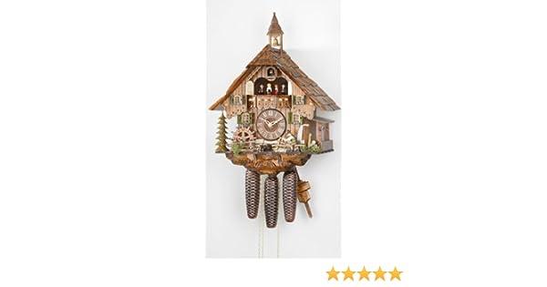 Cuckoo-Palace Pendule /à Coucou Quartz-Mouvement Chalet-Style 34cm
