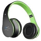 Bluetooth Kopfhörer, Penzo BT809 Faltbare Kopfhörer Stereo Musik Over Ear Kopfhörer mit TF Karte und FM Radio Funktion für iPhone Android Handy Tablet PC usw. (Grün)